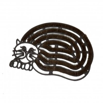 Jeffery Cast Iron Cat Shaped Doormat