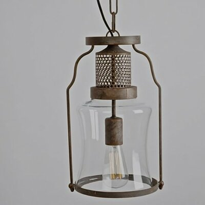 Caffrey 1-Light Foyer/Lantern Pendant