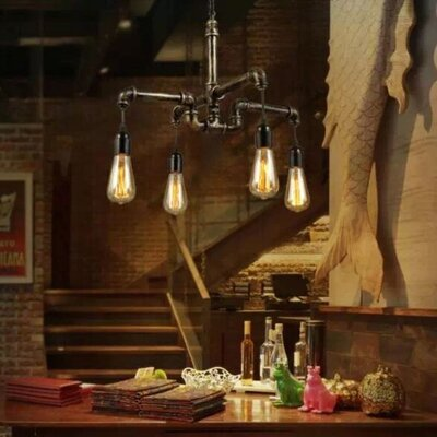 Roneeka Metal Water 4-Light Kitchen Island Pendant