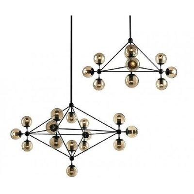 Evertas Metal/Tinted Glass 15-Light Sputnik Chandelier