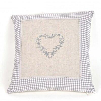 Paschal Linen Heart Pillow Cover