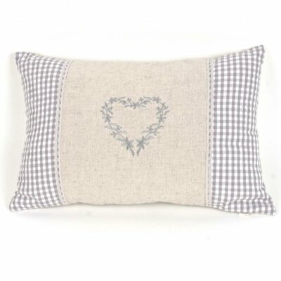 Paschke Linen Heart Pillow Cover