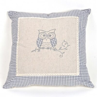Pasillas Linen Owl Pillow Cover
