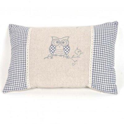 Pasko Linen Owl Pillow Cover