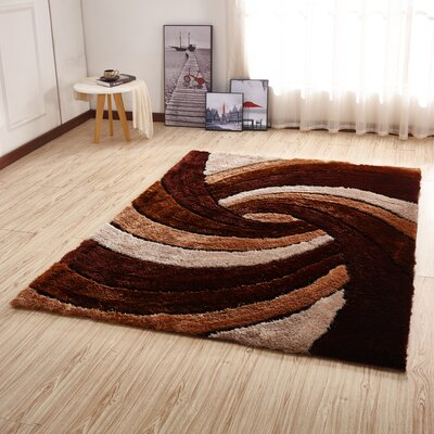 Kleiber Shaggy 3D Brown/Ivory/White Area Rug