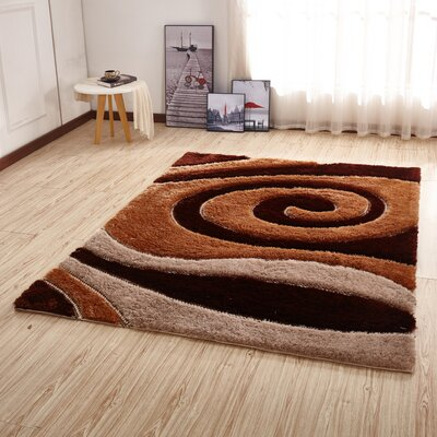 Kleiber Shaggy 3D Brown/Ivory Area Rug