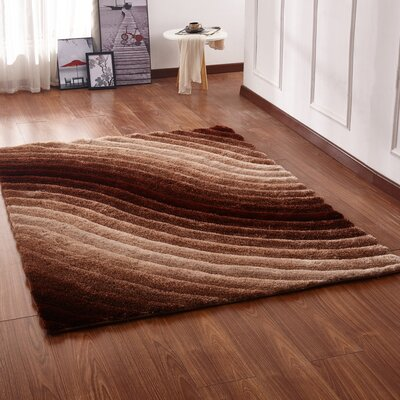 Kleiber Shaggy 3D Brown Area Rug