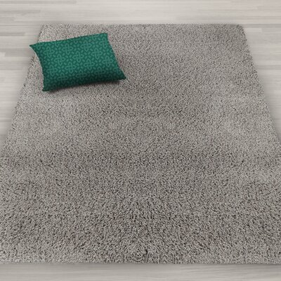 Kleiman Shaggy Solid Gray Area Rug Rug Size: Rectangle 5 x 7
