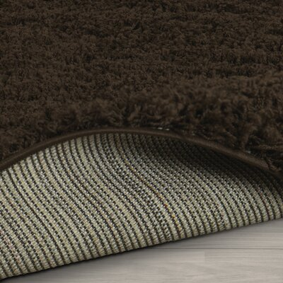 Kleiman Shaggy Solid Brown Area Rug Rug Size: 5 x 7