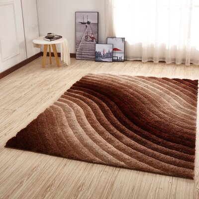 Kleiber Shaggy 3D Ivory/Brown Area Rug