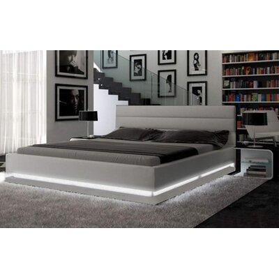 Knisely Upholstered Platform Bed Color: Light Gray, Size: King