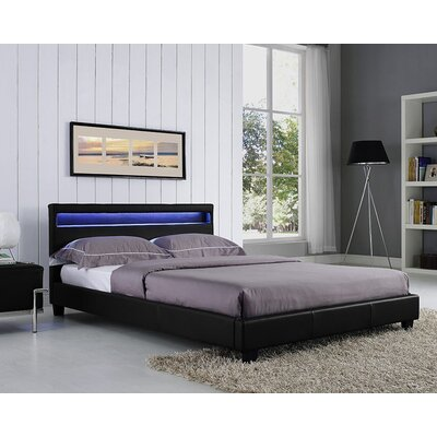 Knopf Upholstered Platform Bed Color: Black, Size: Queen