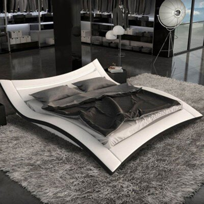 Kohler Upholstered Platform Bed Color: White, Size: King