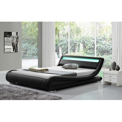 Kondo Upholstered Platform Bed Color: Black, Size: Queen