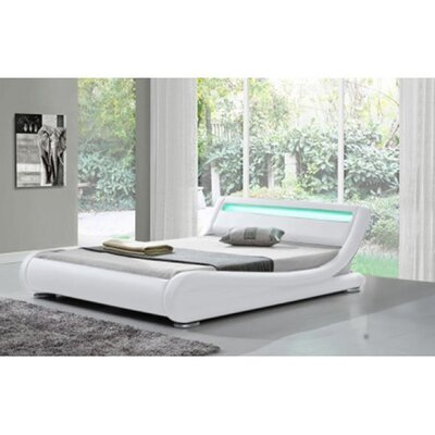 Kondo Upholstered Platform Bed Color: White, Size: Queen