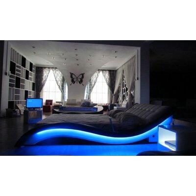 Konen Upholstered Platform Bed Color: Black, Size: Queen