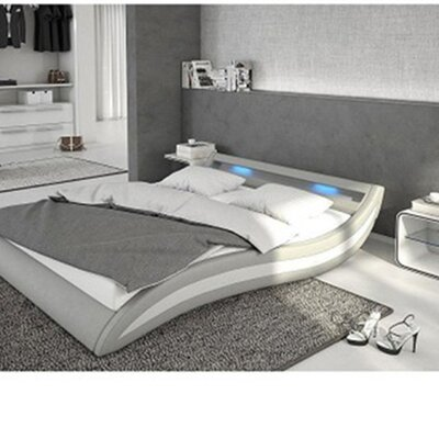 Knipe Upholstered Platform Bed Color: Light Gray, Size: King