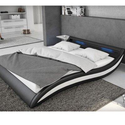 Knipe Upholstered Platform Bed Color: Black, Size: King