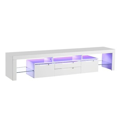 Kopec Modern 74.4 TV Stand with LED Light