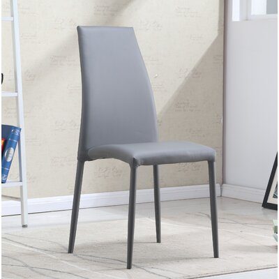 Raybon Modern Upholstered Dining Chair (Set of 4) Upholstery Color: Gray