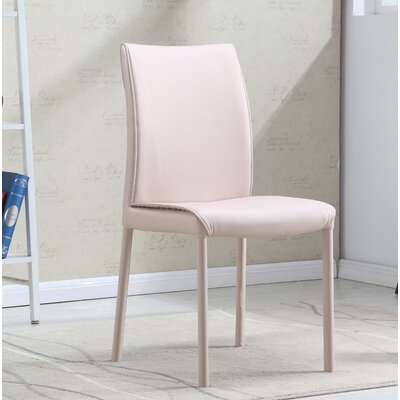 Rayes Modern Upholstered Dining Chair (Set of 2) Upholstery Color: Beige