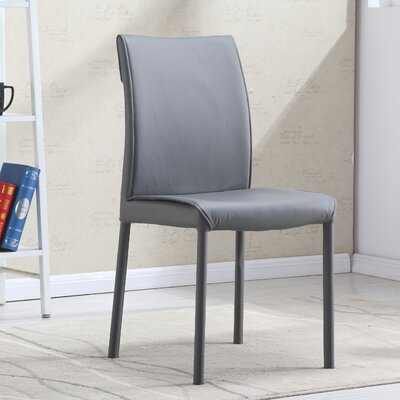 Rayes Modern Upholstered Dining Chair (Set of 2) Upholstery Color: Gray