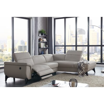 Axtell Modern Reclining Sectional with Electrical Recliner