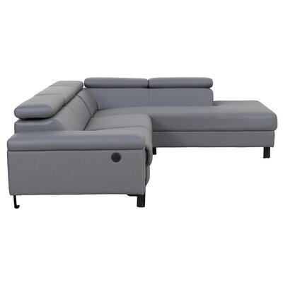 Axton Modern Reclining Sectional with Electrical Recliner