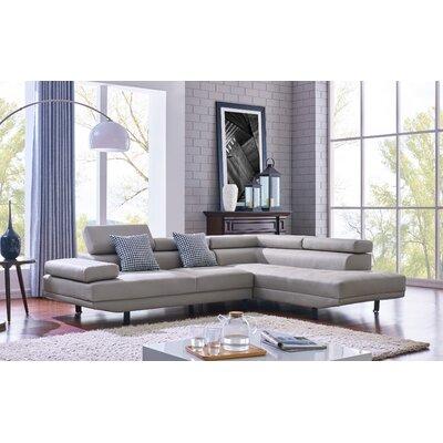 Aylesworth Modern Sectional Upholstery: Light Gray