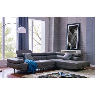 Aylesworth Modern Sectional Upholstery: Dark Gray
