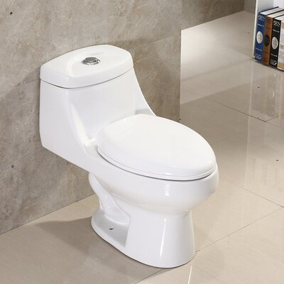 Dual Flush Elongated One-Piece Toilet