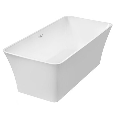 67 x 32 Freestanding Soaking Bathtub with Free Standing Faucet