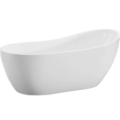 54 x 29 Freestanding Soaking Bathtub
