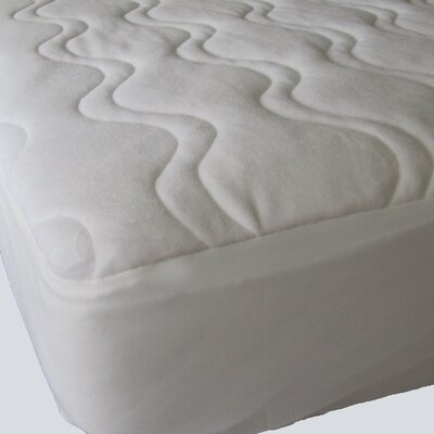 Omni Plush Velour 1 Cotton Mattress Pad Bed Size: Twin XL