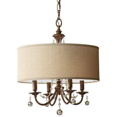 Clarissa 4-Light Drum Chandelier