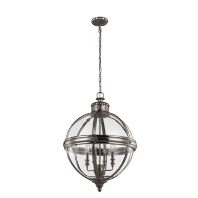 Adams 4-Light Globe Pendant Finish: Antique Nickel