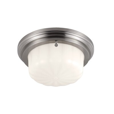 Portia 1-Light Flush Mount Finish: Brushed Steel