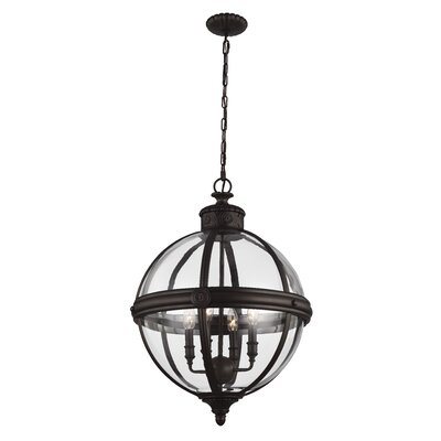 Adams 4-Light Globe Pendant Finish: Oil Rubbed Bronze