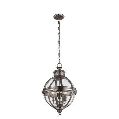 Adams 3-Light Globe Pendant Finish: Antique Nickel