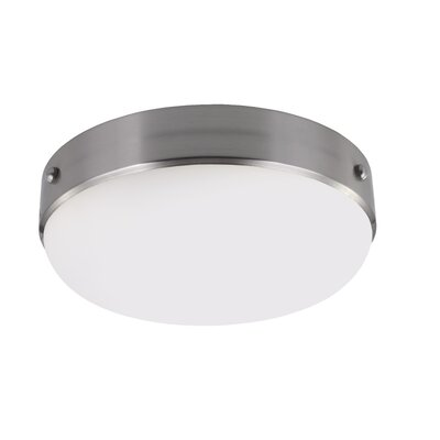Cadence 2-Light Flush Mount Finish: Brushed Steel