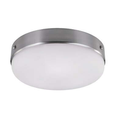 Cadence 3-Light Flush Mount Finish: Brushed Steel