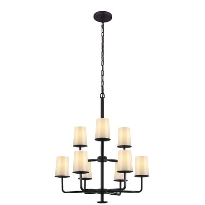 Huntley 9-Light Shaded Chandelier