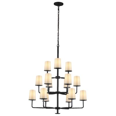 Huntley 15-Light Shaded Chandelier