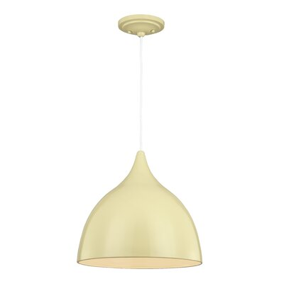 Dutch 1-Light Mini Pendant Finish: Lemon Grass, Size: 13.25 H x 13.75 W x 13.75 D