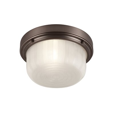 Elliot 1-Light Flush Mount Finish: Chocolate