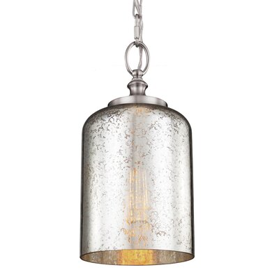 Hounslow 1 Light  Mini Pendant Finish: Brushed Steel, Shade Color: Silver Mercury Plating, Bulb Type: Self Ballasted CFL GU24 13W