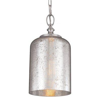 Hounslow 1 Light  Mini Pendant Shade Color: Silver Mercury Plating, Bulb Type: Self Ballasted CFL GU24 13W, Finish: Polished Nickel