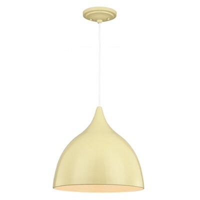 Dutch 1 Light Mini Pendant Bulb Type: A19 Medium 13W, Finish: Lemon Grass