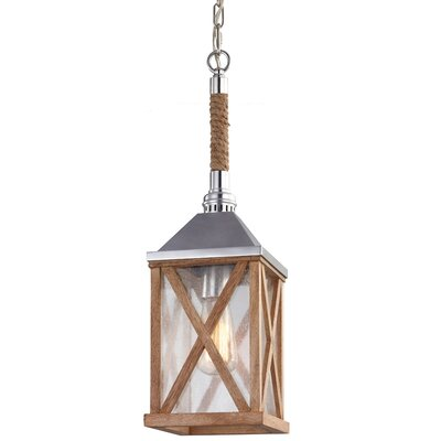Lumiere 1 Light Mini Pendant Finish: Natural Oak, Bulb Type: ST18 Medium 60W