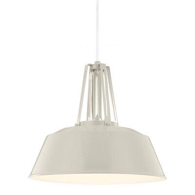 Freemont 1 Light Mini Pendant Finish: Hi Gloss Grey, Bulb Type: Self Ballasted CFL GU24 13W
